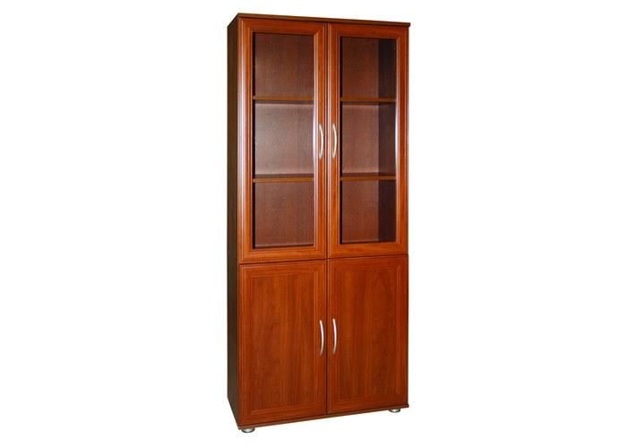 Шкаф для книг со стеклом мд 2.03 купить по цене 5600.00 в ко.